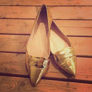 Kate Spade Gold Flats